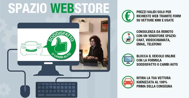 Spazio Web Store Blocca un veicolo online con la formula soddistatto o cambi auto